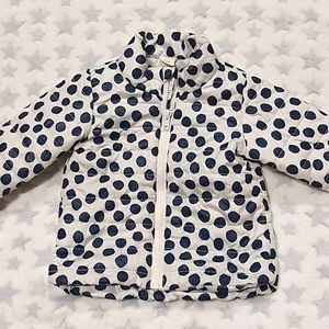 Size 0 H&M white jacket with black spots